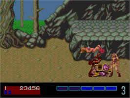 In game image of Golden Axe on the NEC PC Engine CD.