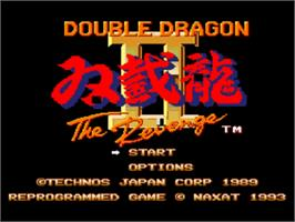 Title screen of Double Dragon II - The Revenge on the NEC PC Engine CD.
