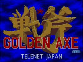 Title screen of Golden Axe on the NEC PC Engine CD.