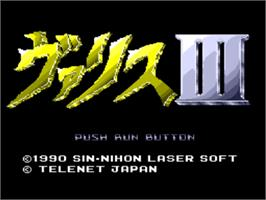 Title screen of Valis 3 on the NEC PC Engine CD.