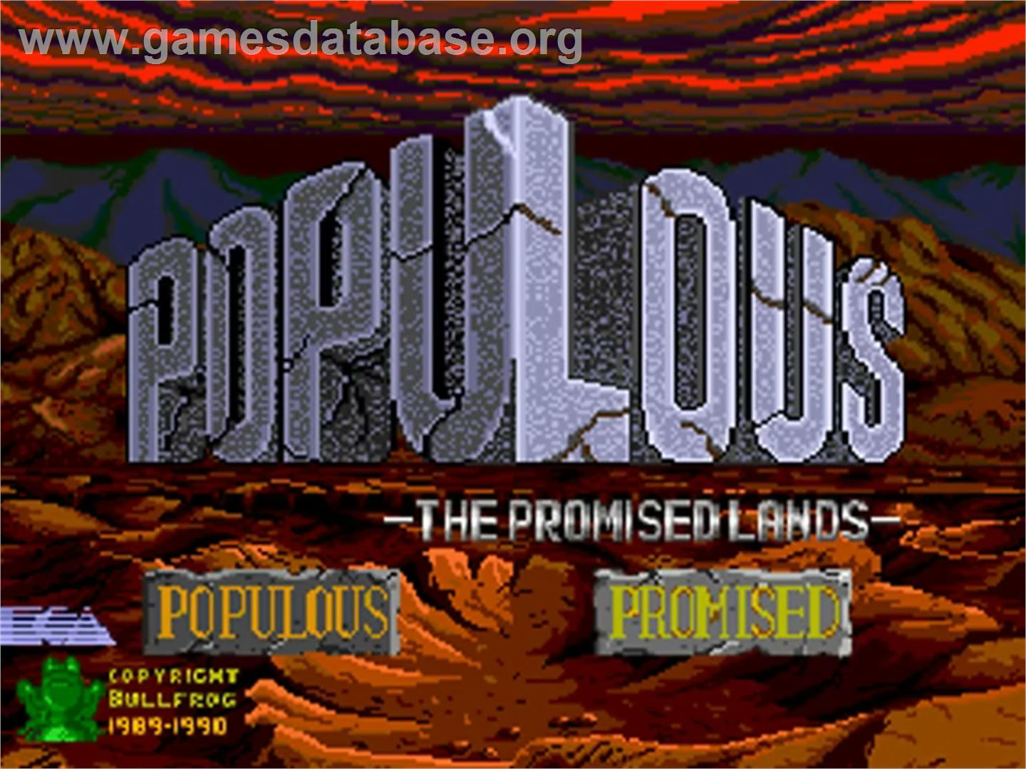 Populous: The Promised Lands - NEC PC Engine CD - Artwork - Title Screen