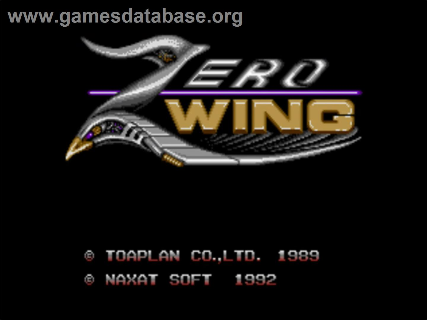 Title screen of Zero Wing on the NEC PC Engine CD.