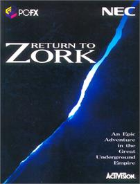 Box cover for Return to Zork on the NEC PC-FX.