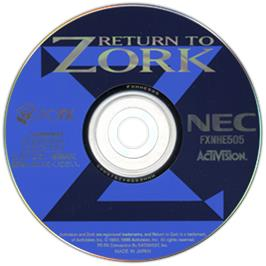 Artwork on the CD for Return to Zork on the NEC PC-FX.