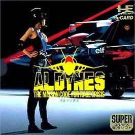 Box cover for Aldynes on the NEC SuperGrafx.