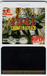 Cartridge artwork for 1941 - Counter Attack on the NEC SuperGrafx.