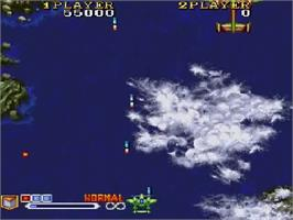 In game image of 1941 - Counter Attack on the NEC SuperGrafx.