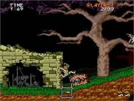 In game image of Ghouls'n Ghosts on the NEC SuperGrafx.
