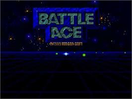 Title screen of Battle Ace on the NEC SuperGrafx.