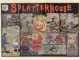 Advert for Splatterhouse on the Commodore Amiga Demos.