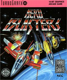 Box cover for Air Buster on the NEC TurboGrafx-16.