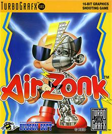 Box cover for Air Zonk on the NEC TurboGrafx-16.