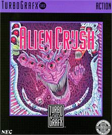 Box cover for Alien Crush on the NEC TurboGrafx-16.