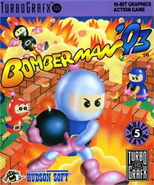 Box cover for Bomberman '93 on the NEC TurboGrafx-16.