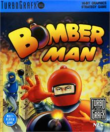 Box cover for Bomberman on the NEC TurboGrafx-16.