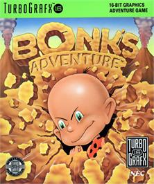 Box cover for Bonk's Adventure on the NEC TurboGrafx-16.
