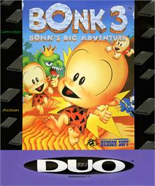 Box cover for Bonk 3: Bonk's Big Adventure on the NEC TurboGrafx-16.