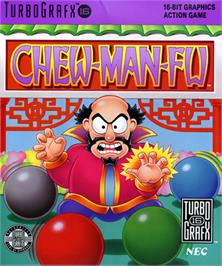 Box cover for Chew Man Fu on the NEC TurboGrafx-16.