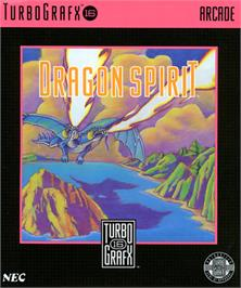 Box cover for Dragon Spirit: The New Legend on the NEC TurboGrafx-16.
