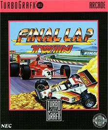 Box cover for Final Lap Twin on the NEC TurboGrafx-16.