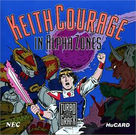Box cover for Keith Courage in Alpha Zones on the NEC TurboGrafx-16.
