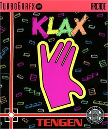 Box cover for Klax on the NEC TurboGrafx-16.