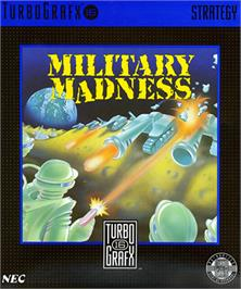 Box cover for Military Madness on the NEC TurboGrafx-16.