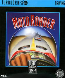 Box cover for Moto Roader on the NEC TurboGrafx-16.