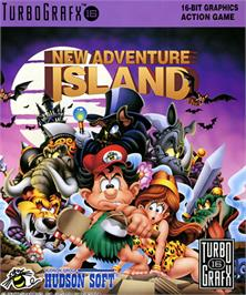 Box cover for New Adventure Island on the NEC TurboGrafx-16.