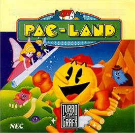 Box cover for Pac-Land on the NEC TurboGrafx-16.