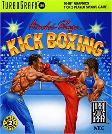 Box cover for Panza Kick Boxing on the NEC TurboGrafx-16.