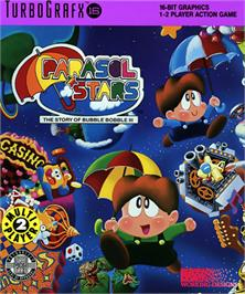 Box cover for Parasol Stars: The Story of Bubble Bobble III on the NEC TurboGrafx-16.