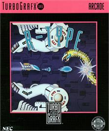 Box cover for R-Type on the NEC TurboGrafx-16.