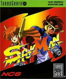 Box cover for Shockman on the NEC TurboGrafx-16.