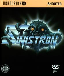 Box cover for Sinistron on the NEC TurboGrafx-16.