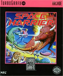 Box cover for Space Harrier on the NEC TurboGrafx-16.