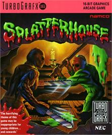 Box cover for Splatterhouse on the NEC TurboGrafx-16.