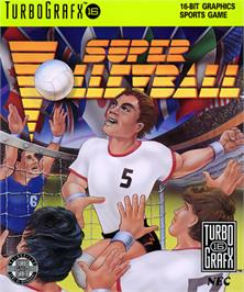 Box cover for Super Dodge Ball on the NEC TurboGrafx-16.