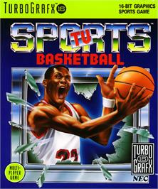 Box cover for TV Sports: Basketball on the NEC TurboGrafx-16.