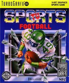 Box cover for TV Sports: Football on the NEC TurboGrafx-16.