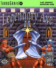 Box cover for The Legendary Axe II on the NEC TurboGrafx-16.