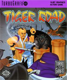 Box cover for Tiger Road on the NEC TurboGrafx-16.