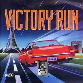 Box cover for Victory Run on the NEC TurboGrafx-16.