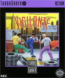 Box cover for Vigilante on the NEC TurboGrafx-16.