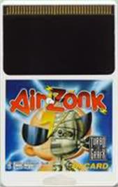 Cartridge artwork for Air Zonk on the NEC TurboGrafx-16.