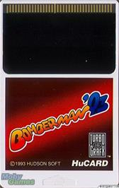 Cartridge artwork for Bomberman '93 on the NEC TurboGrafx-16.