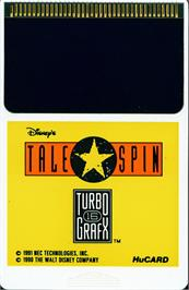 Cartridge artwork for Disney's TaleSpin on the NEC TurboGrafx-16.