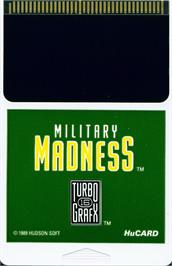 Cartridge artwork for Military Madness on the NEC TurboGrafx-16.