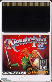Cartridge artwork for Neutopia II on the NEC TurboGrafx-16.