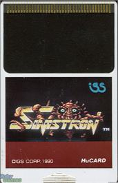 Cartridge artwork for Saint Dragon on the NEC TurboGrafx-16.